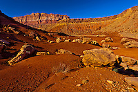 Rock formations at Cliff Dwellers, Paria Canyon-Vermillion Cliffs Wilderness Area, Arizona, USA