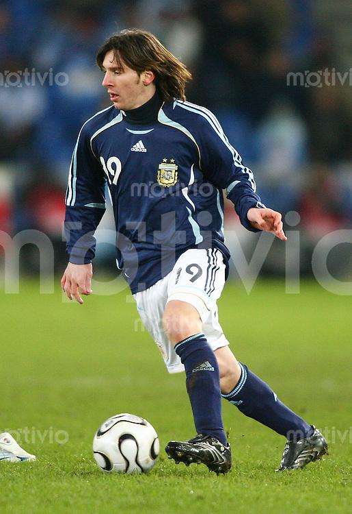 Fussball International Testspiel Kroatien - Argentinien Lionel Messi (ARG)