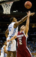 Basketball action between North Carolina and Washington State during the NCAA Basketball Men's East Regional at Time Warner Cable Arena in Charlotte, NC.