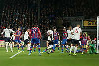 23rd November 2019; Selhurst Park, London, England; English Premier League Football, Crystal Palace versus Liverpool; Roberto Firmino of Liverpool scores for 1-2 in the 85th minute - Strictly Editorial Use Only. No use with unauthorized audio, video, data, fixture lists, club/league logos or 'live' services. Online in-match use limited to 120 images, no video emulation. No use in betting, games or single club/league/player publications