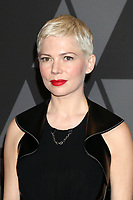 HOLLYWOOD, CA - NOVEMBER 11: Michelle Williams at the AMPAS 9th Annual Governors Awards at the Dolby Ballroom in Hollywood, California on November 11, 2017. Credit: David Edwards/MediaPunch /NortePhoto.com
