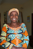 Africa, DRC, Democratic Republic of the Congo, South Kivu, Bukavu. Women for Women project. Nathalie Bera (37, 6 kids),  Life skills trainer.