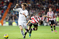 Real Madrid CF vs Athletic Club de Bilbao (5-1) at Santiago Bernabeu stadium. The picture shows Luka Modric. November 17, 2012. (ALTERPHOTOS/Caro Marin) NortePhoto