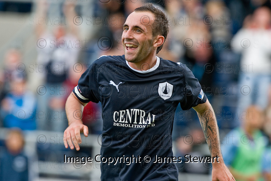 21/08/2010   Copyright  Pic : James Stewart.sct_jsp012_falkirk_v_stirling_alb  .:: MARK STEWART CELEBRATES AFTER HE SCORES THE SECOND :: .James Stewart Photography 19 Carronlea Drive, Falkirk. FK2 8DN      Vat Reg No. 607 6932 25.Telephone      : +44 (0)1324 570291 .Mobile              : +44 (0)7721 416997.E-mail  :  jim@jspa.co.uk.If you require further information then contact Jim Stewart on any of the numbers above.........