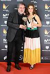 Javier Olivares and Aura Garrido win the award at Feroz Awards 2017 in Madrid, Spain. January 23, 2017. (ALTERPHOTOS/BorjaB.Hojas)