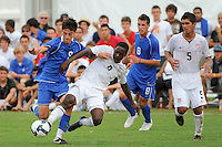 A. J. Corrado (9) of the Academy select Team and Boyd Okwuonu (6) of the USA. The US U-17 Men's National Team defeated the Development Academy Select Team 5-3 during day two of the US Soccer Development Academy  Spring Showcase in Sarasota, FL, on May 23, 2009.