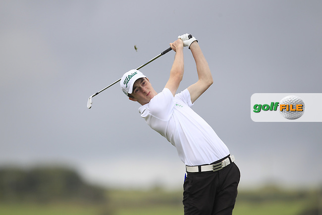 Paul Tobin (Cork) on the 6th tee during Round 2 of the AIG Irish Amateur Close Championship at Tramore Golf Club on Wednesday 19th August 2015.<br /> Picture:  Thos Caffrey / www.golffile.ie