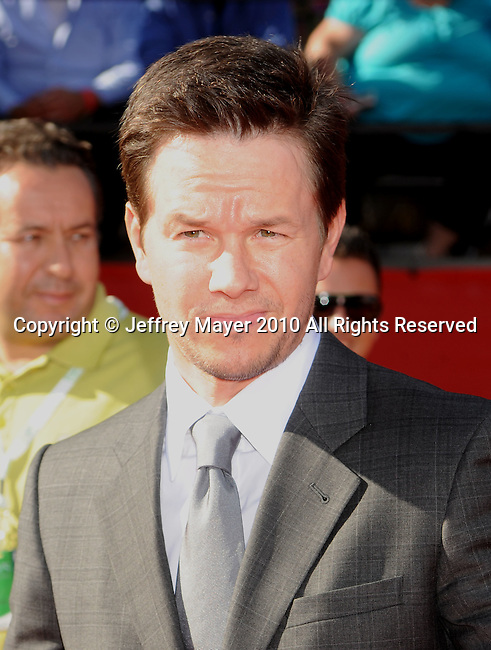LOS ANGELES, CA. - July 14: Mark Wahlberg arrives at the 2010 ESPY Awards at Nokia Theatre L.A. Live on July 14, 2010 in Los Angeles, California.