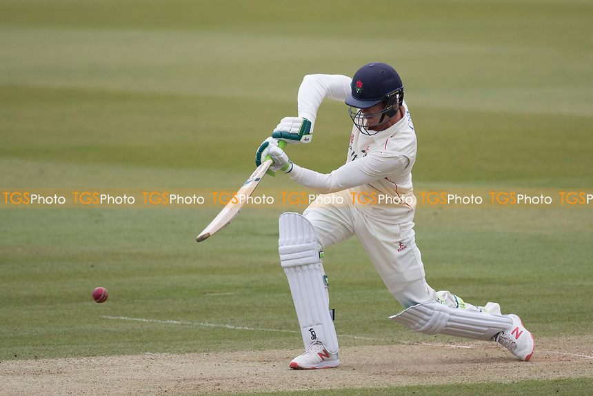 Keaton Jennings of Lancashire CCC  drives through mid off for runs during Middlesex CCC vs Lancashire CCC, Specsavers County Championship Division 2 Cricket at Lord's Cricket Ground on 12th April 2019