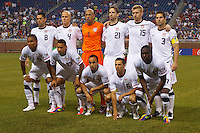 7 June 2011: USA starting eleven before the CONCACAF soccer match between Panama and Guadeloupe at Ford Field Detroit, Michigan.