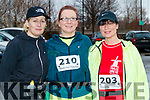 Helen Nolan Finn, Anna Sheehy and Nina Mansfield, who took part in the Optimal Fitness 10 miler and 5k road race, at The Rose Hotel, Tralee, on Sunday morning last.