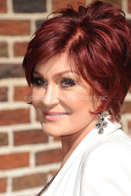 WWW.ACEPIXS.COM . . . . . .August 27, 2012...New York City....Sharon Osbourne tapes  an appearance on the Late Show with David Letterman on August 27, 2012  in New York City....Please byline: KRISTIN CALLAHAN - ACEPIXS.COM.. . . . . . ..Ace Pictures, Inc: ..tel: (212) 243 8787 or (646) 769 0430..e-mail: info@acepixs.com..web: http://www.acepixs.com .