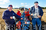 Michael Brosnan (Castleisland) and James Collins (Ardfert) enjoying a cuppa, at the Abbeydorney Ploughing on Sunday.