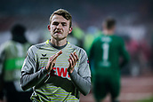 7th December 2017, Rajko Mitic Stadium, Belgrade, Serbia, UEFA Europa League football, Red Star Belgrade versus FC Cologne; Defender Jannes-Kilian Horn of FC Koeln looks dejected after the match