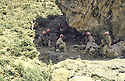 Iraq 1983 <br /> A cave near Haj Omran where  Idris Barzani meets his peshmerga officers   <br /> Irak 1983 <br /> Dans une grotte pres de Haj Omran, ou Idris Barzani rencontre ses officiers peshmergas