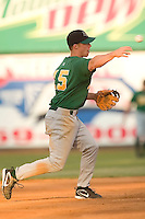 Lynchburg shortstop Brian Bixler (15) makes a throw to first base versus Winston-Salem at Ernie Shore Field in Winston-Salem, NC, Saturday, June 3, 2006.  Winston-Salem defeated Lynchburg 3-2.