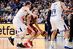 Real Madrid's Luka Doncic and FC Barcelona Lassa's Petteri Koponen during Turkish Airlines Euroleague match between Real Madrid and FC Barcelona Lassa at Wizink Center in Madrid, Spain. March 22, 2017. (ALTERPHOTOS/BorjaB.Hojas)
