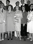 Carol Channing, Ethel Merman, Princess Grace Kelly, Ellen Burstyn and Anna Strassberg at the Theatre Hall Of Fame Awards held on March 28, 1982 at the Uris Theater, now called the Gershwin Theater, New York City.