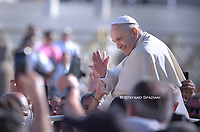 Pope Francis during of a weekly general audience at St Peter's square in Vatican, Wednesday.September 11, 2019