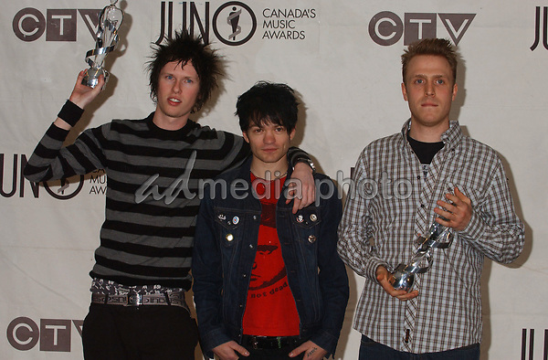 02 April 2005 - Winnipeg, Manitoba - Sum 41. The 2005 Juno Awards Dinner and Gala held at the Winnipeg Convention Centre. The Juno Awards are awarded to Canada's best musician's annually. Photo Credit: Laura Farr/AdMedia