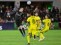 Washington, DC. - Thursday, November 01, 2018: Columbus Crew SC defeated D.C. United 3-2 in a penalty kick shootout in a MLS Playoffs Knockout match at Audi Field.