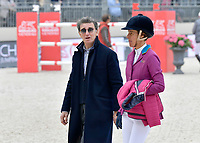 EDOUARD DE ROTHSCHILD, LUCIANA DINIZ - 1ER JUMPING INTERNATIONAL DU CHATEAU DE VERSAILLES - 05/05/2017 - VERSAILLES , FRANCE