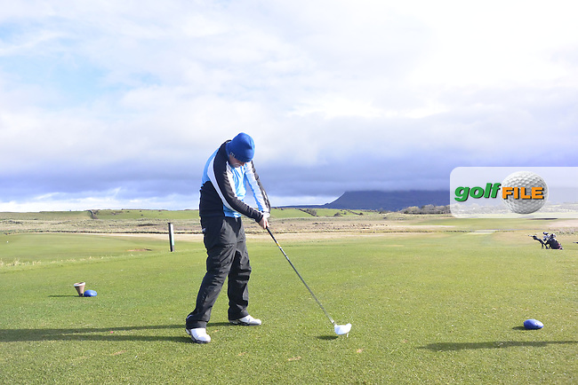 Alan Gaynor (Co. Sligo) on the 7th tee during Matchplay Round 1 of the West of Ireland Amateur Open Championship at the Co. Sligo Golf Club in Rosses Point on Sunday 27th March 2016.<br /> Picture:  Golffile / Thos Caffrey