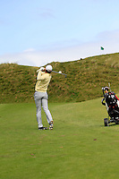 Robert Cannon (Balbriggan) on the 4th during the Quarter Finals of The South of Ireland in Lahinch Golf Club on Tuesday 29th July 2014.<br /> Picture:  Thos Caffrey / www.golffile.ie