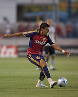 Real Salt Lake midfielder Javier Morales (11) passes. Salt Lake Real defeated Toronto FC, 3-0, at Rio Tinto Stadium on June 27, 2009.