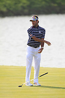 Bubba Watson (Team USA) on the 2nd green during the Friday Foursomes at the Ryder Cup, Le Golf National, Ile-de-France, France. 28/09/2018.<br /> Picture Thos Caffrey / Golffile.ie<br /> <br /> All photo usage must carry mandatory copyright credit (© Golffile | Thos Caffrey)