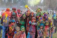 Holi Festival of Colors 2016, Bellevue, Washington, USA.