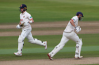 Sam Cook and Nick Browne add to the Essex total during Warwickshire CCC vs Essex CCC, Specsavers County Championship Division 1 Cricket at Edgbaston Stadium on 12th September 2019