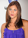 """LOS ANGELES, CA - OCTOBER 04: Hope Solo arrives at the launch of """"Just Dance 3"""" at The Beverly on October 4, 2011 in Los Angeles, California."""
