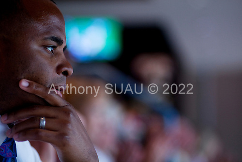 Houston, Texas<br /> October 2, 2011<br /> <br /> General manager and first as executive vice president, Rick Smith watches the second and third quarters from a skybox. <br /> <br /> The Houston Texans defeated the Pittsburgh Steelers at the Reliant Stadium 17 to 10.