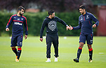 Nacho Novo with Daniel Candeias and Eduardo Herrera
