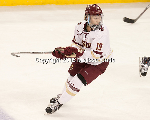 Makenna Newkirk (BC - 19) - The Boston College Eagles defeated the visiting University of Maine Black Bears 2-1 on Saturday, October 8, 2016, at Kelley Rink in Conte Forum in Chestnut Hill, Massachusetts.  The University of North Dakota Fighting Hawks celebrate their 2016 D1 national championship win on Saturday, April 9, 2016, at Amalie Arena in Tampa, Florida.