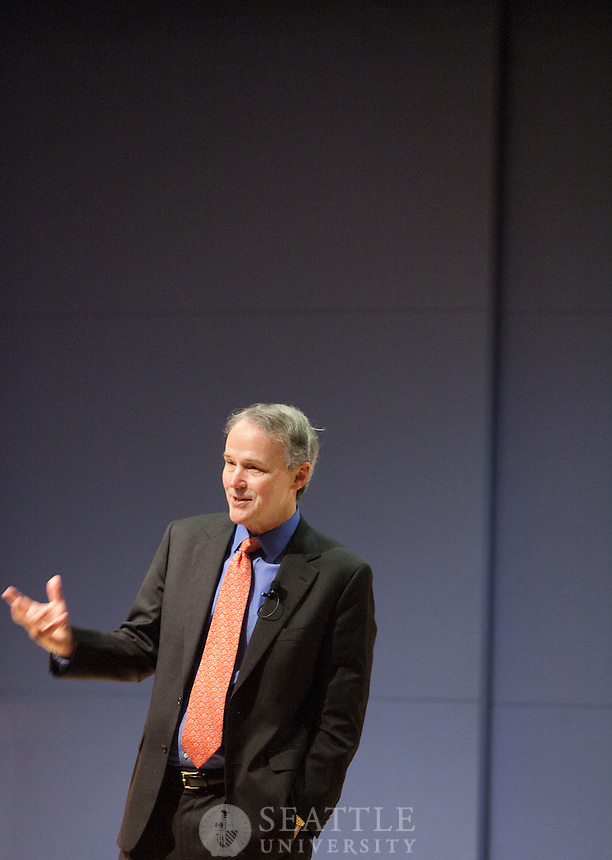 David Beckmann, president of Bread for the World talks during the Albers Executive speaker series Feb 28., 2012.