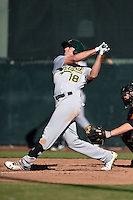 Oakland Athletics outfielder Tyler Marincov (18) during an Instructional League game against the San Francisco Giants on October 13, 2014 at Giants Baseball Complex in Scottsdale, Arizona.  (Mike Janes/Four Seam Images)