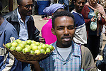 ADDIS ABABA - ETHIOPIA - 10 APRIL 2004-- Street sceene in Addis.-- The Markato is said to be the biggest market in Africa. Limes on delivery.--PHOTO: JUHA ROININEN / EUP-IMAGES
