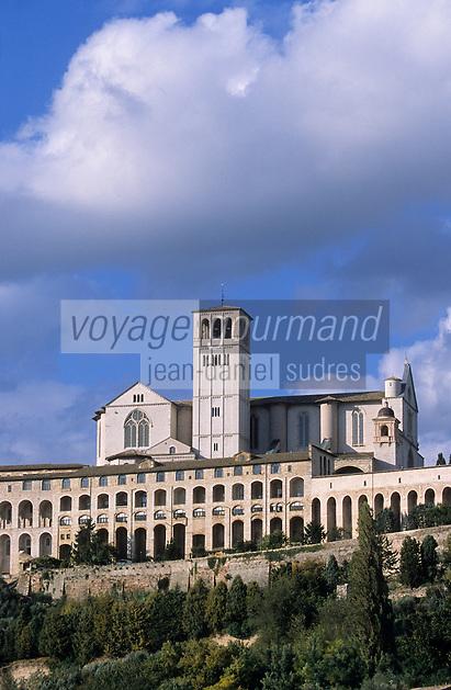 Europe/Italie/Ombrie/Assise : Basilique Saint-François (S. Francesco) - XIII°
