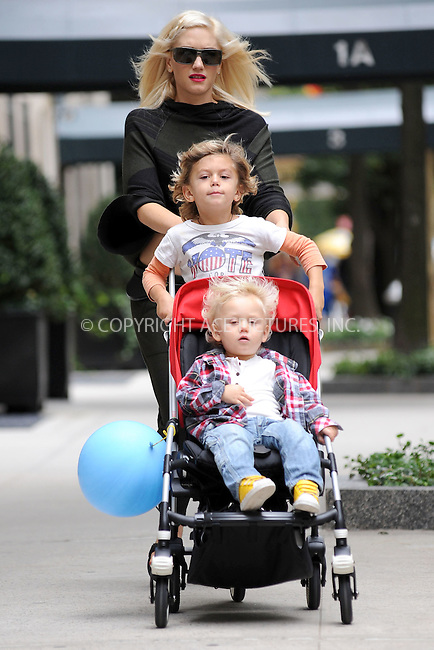 WWW.ACEPIXS.COM . . . . . .September 17, 2010...New York City....Gwen Stefani and her sons, Kingston and Zuma, in Central Park on September 17, 2010 in New York City....Please byline: KRISTIN CALLAHAN - ACEPIXS.COM.. . . . . . ..Ace Pictures, Inc: ..tel: (212) 243 8787 or (646) 769 0430..e-mail: info@acepixs.com..web: http://www.acepixs.com .