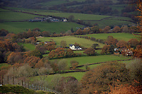A farm house in Llangammarch Wells, Powys, Wales, UK