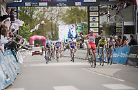 Andrea Vendrame (ITA/Androni Giocattoli - Sidermec) wins the 36th TRO BRO LEON 2019 (FRA)<br /> One day race from Plouguerneau to Lannilis (205km)<br /> <br /> ©kramon