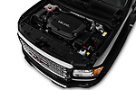 Car Stock 2017 GMC Canyon Denali-Crew 4 Door Pickup Engine  high angle detail view