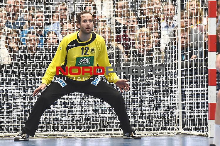02.04.2016, LANXESS arena, K&ouml;ln , GER, Handball DHB Testl&auml;nderspiel,   Deutschland (GER) vs. D&auml;nemark ( DK) <br /> <br /> im Bild / picture shows: <br /> <br /> Silvio Heinevetter ( Deutschland/Germany #12)<br /> <br /> <br /> Foto &copy; nordphoto / meuter