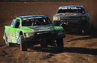Apr 16, 2011; Surprise, AZ USA; LOORRS driver Nick Tyree (91) leads Pete Sohren (22) during round 3 at Speedworld Off Road Park. Mandatory Credit: Mark J. Rebilas-