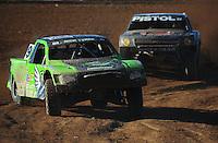 Apr 16, 2011; Surprise, AZ USA; LOORRS driver Nick Tyree (91) leads Pete Sohren (22) during round 3 at Speedworld Off Road Park. Mandatory Credit: Mark J. Rebilas-