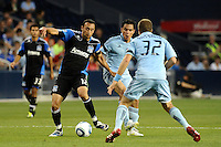 Ramiro Corrales (12) midfielder San JoseEarthquakes in action...Sporting KC defeated San Jose Earthquakes 1-0 at LIVESTRONG Sporting Park, Kansas City ,Kansas,..
