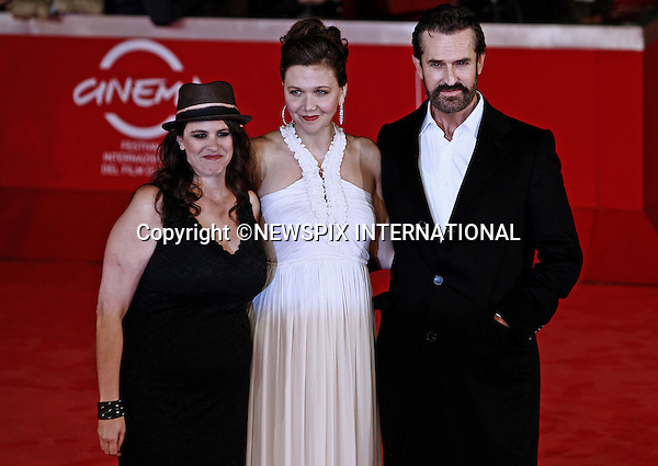 """MAGGIE GYLLENHAAL, TANYA WEXLER AND RUPERT EVERETT.attends the premiere of """"Hysteria"""" at the 6th Rome International Film Festival, Rome, Italy_28/10/2011.Mandatory Credit Photo: ©Matteo Ciambelli/NEWSPIX INTERNATIONAL..**ALL FEES PAYABLE TO: """"NEWSPIX INTERNATIONAL""""**..IMMEDIATE CONFIRMATION OF USAGE REQUIRED:.Newspix International, 31 Chinnery Hill, Bishop's Stortford, ENGLAND CM23 3PS.Tel:+441279 324672  ; Fax: +441279656877.Mobile:  07775681153.e-mail: info@newspixinternational.co.uk"""
