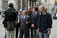 Roma, 13 ottobre 2011.Parlamentari e ministri entrano in Parlamento per l'intervento del presidente Silvio Berlusconi.Nella foto:Domenico Scilipoti